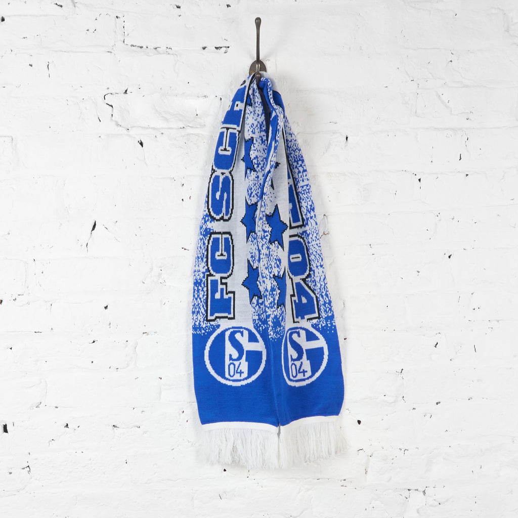 Vintage Schalke FC 04 Football Scarf - Blue/White
