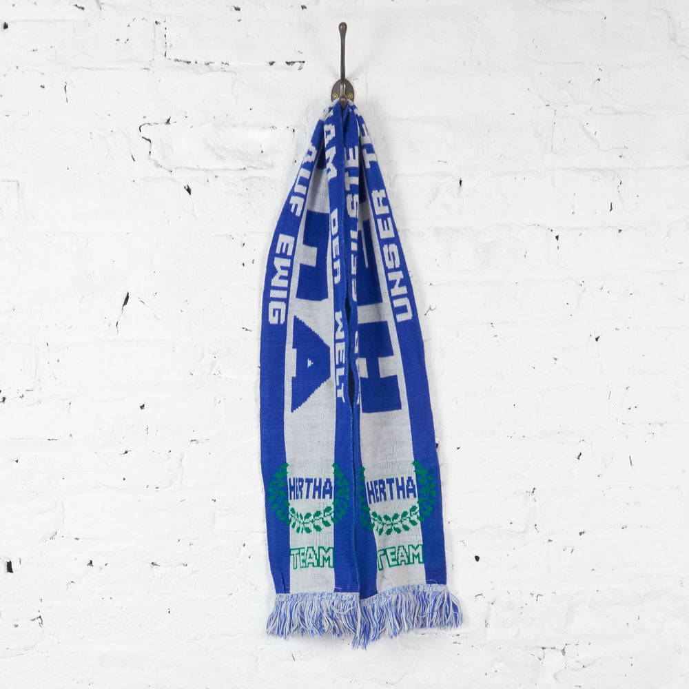 Vintage Hertha FC Football Scarf - Blue