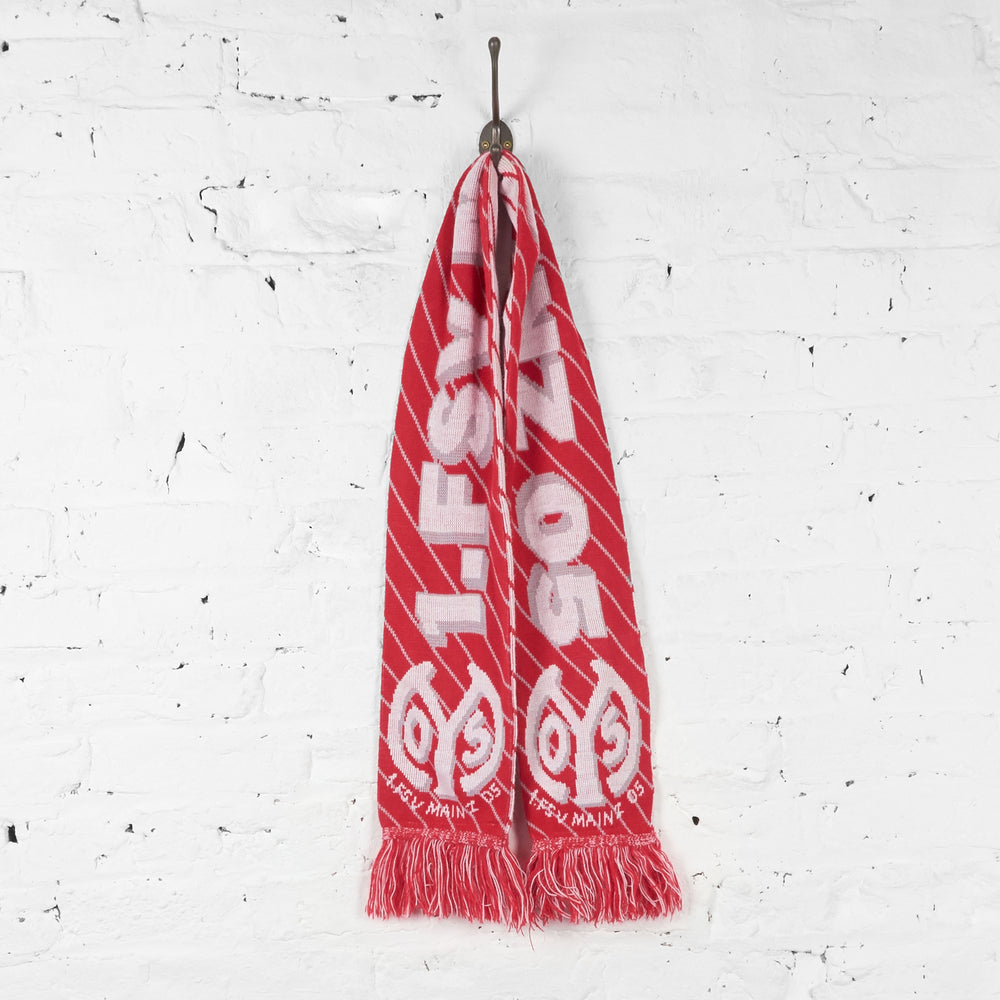 Vintage FSV Mainz Football Scarf - Red