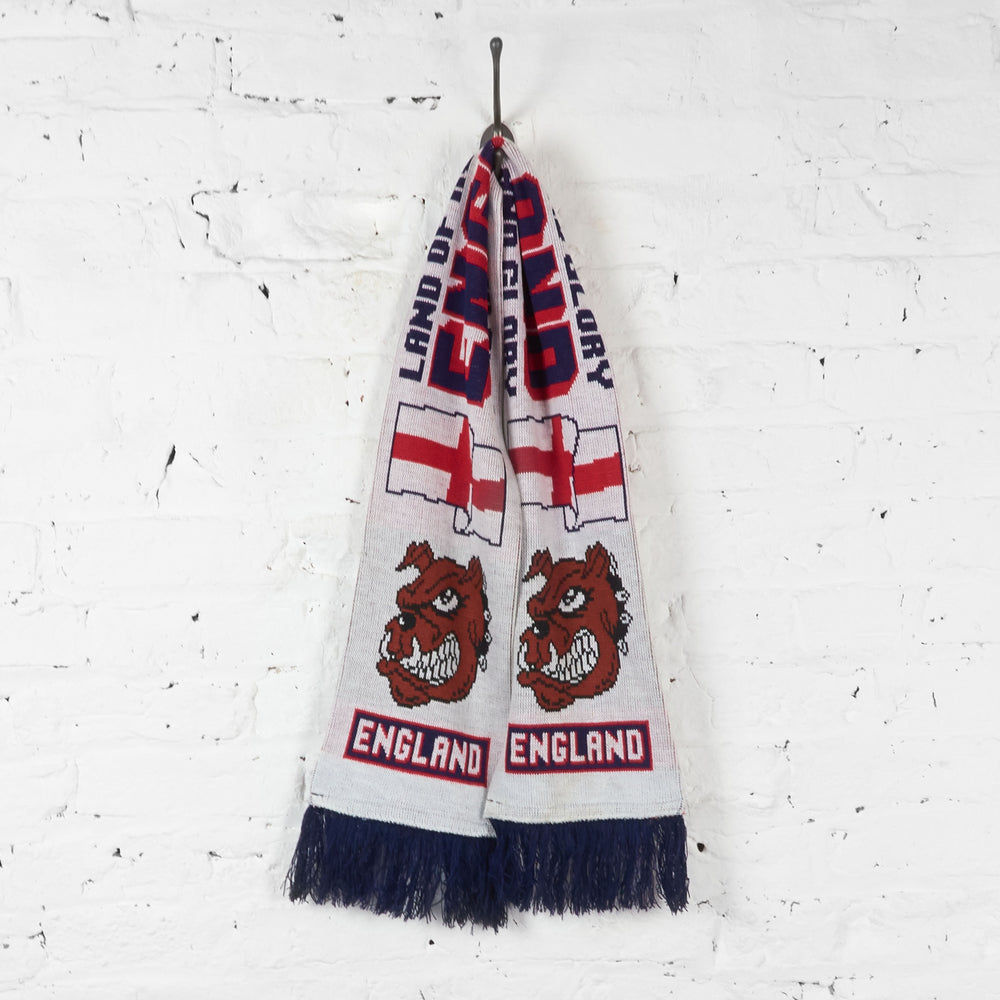 Vintage England Football Scarf - White