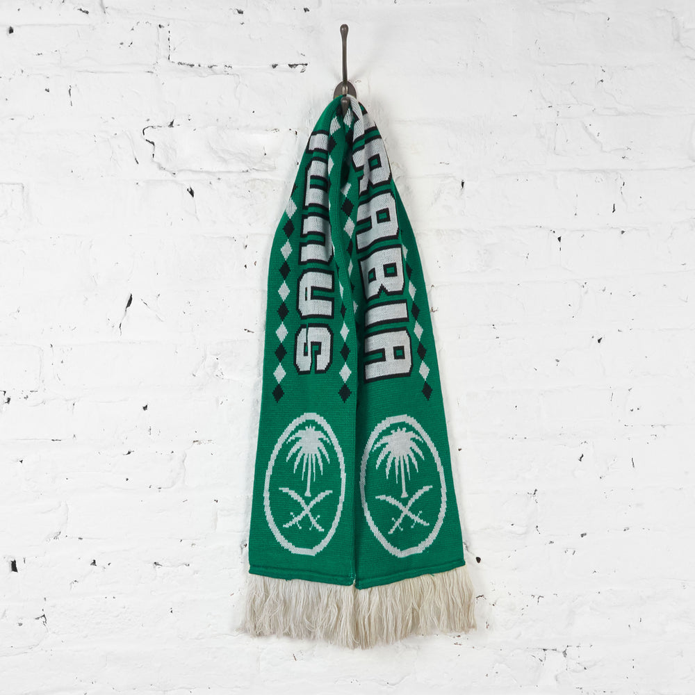 Vintage Saudi Arabia Football Scarf - Green