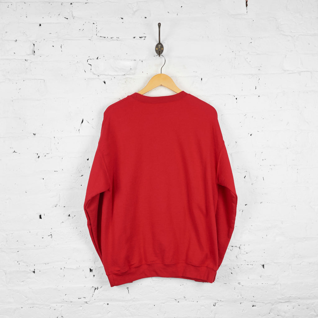 Vintage Mickey Mouse Disney Sweatshirt - Red - L