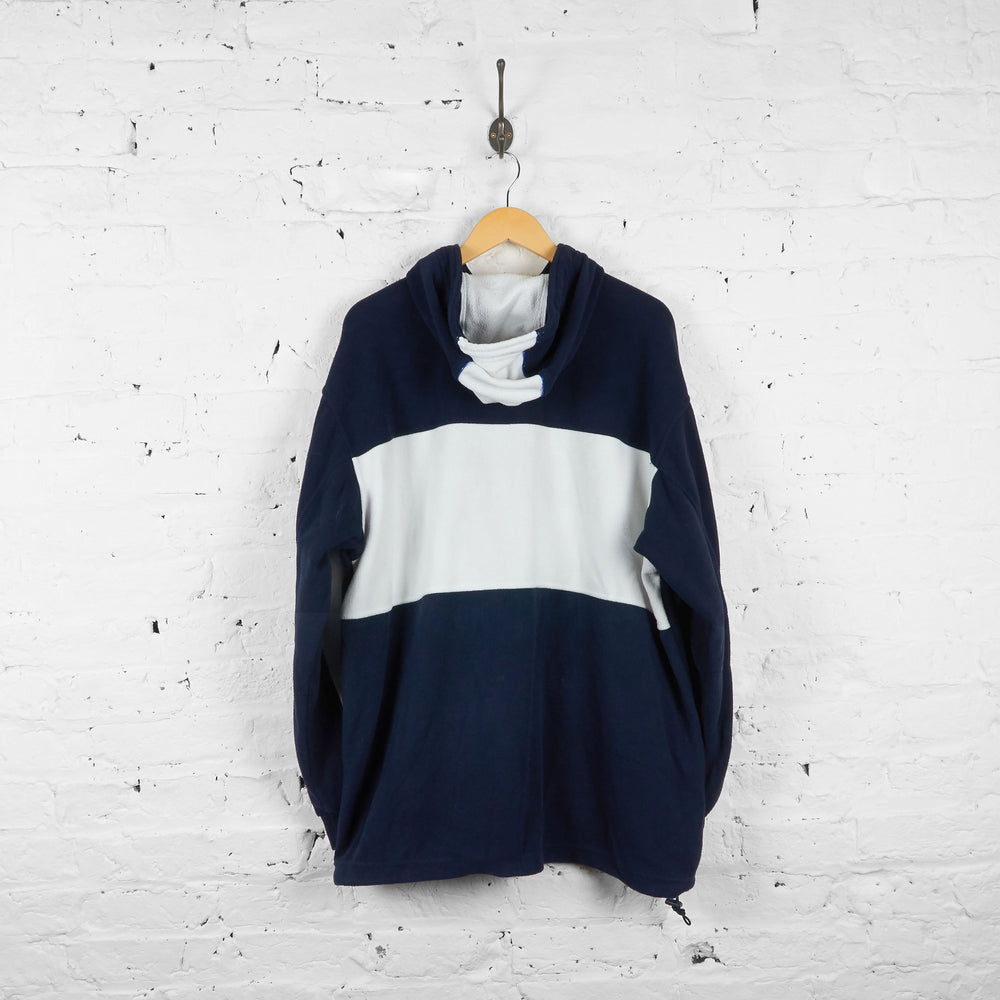 Vintage Kappa Hooded Fleece - Navy/White - XXL