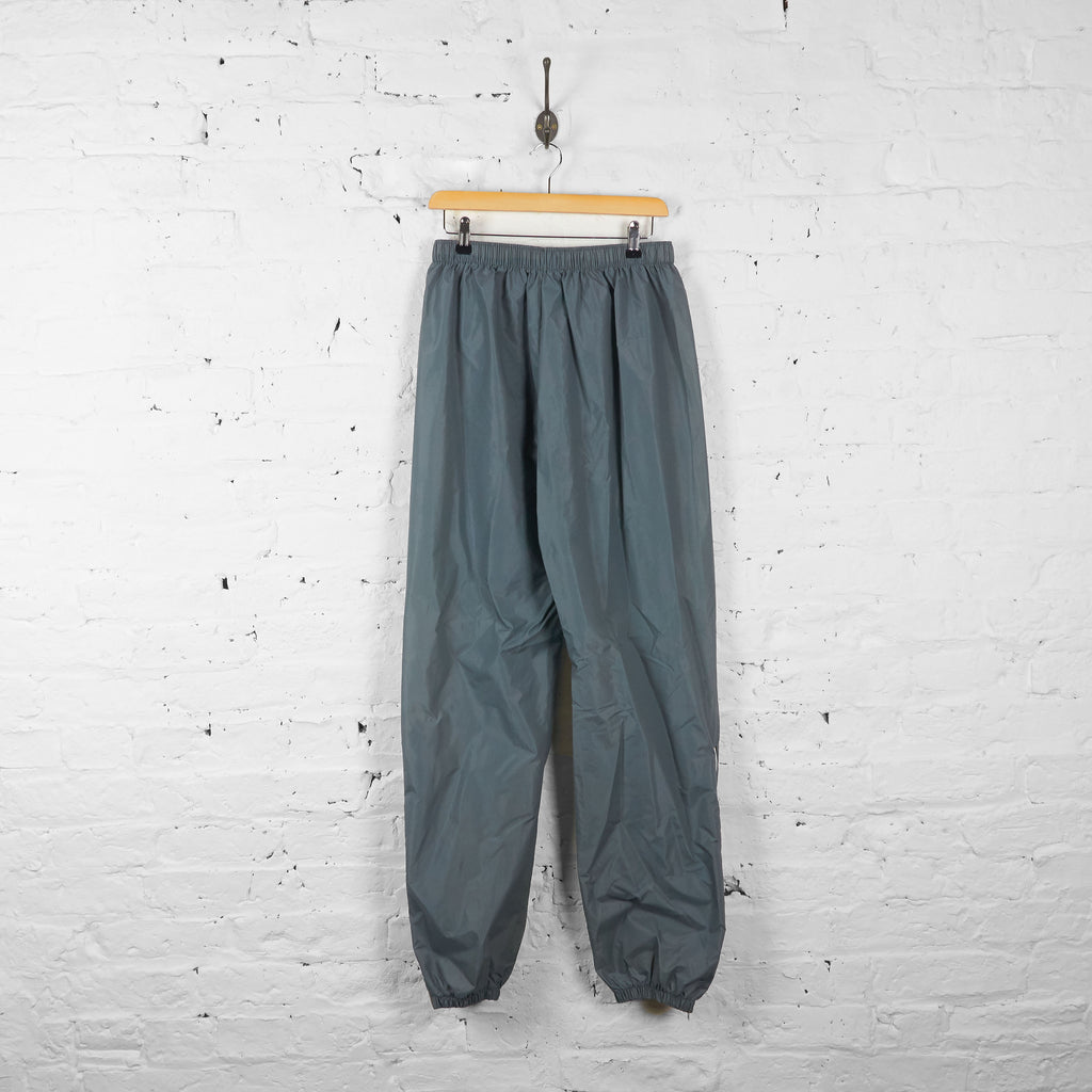 Vintage K-Way Shell Tracksuit Bottoms - Grey - M