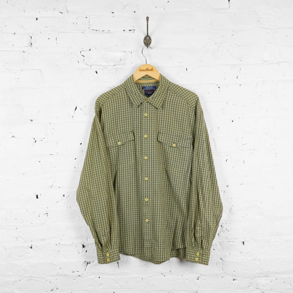 Vintage Tommy Hilfiger Jeans Flannel Shirt - Green - XL