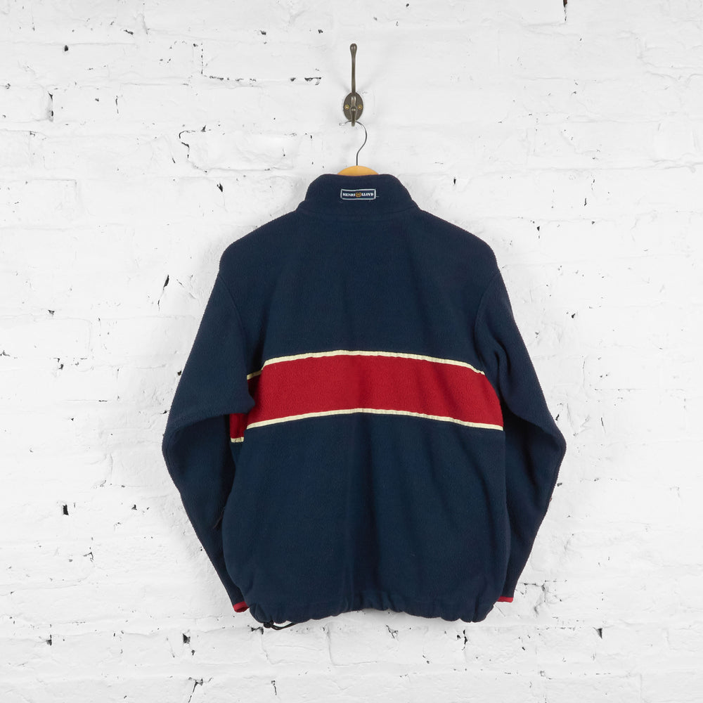 Vintage Henri Lloyd 1/4 Zip Up Fleece - Navy/Red - S