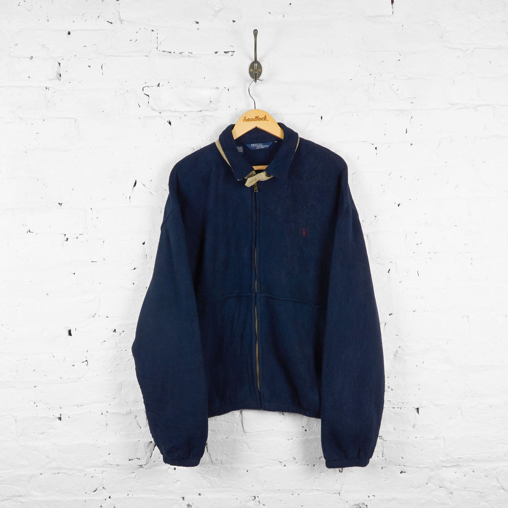 Vintage Ralph Lauren Polo Fleece - Navy - XL