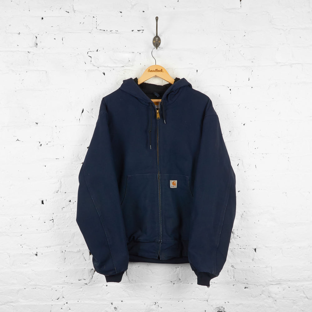 Vintage Hooded Carhartt Jacket - Navy - XL