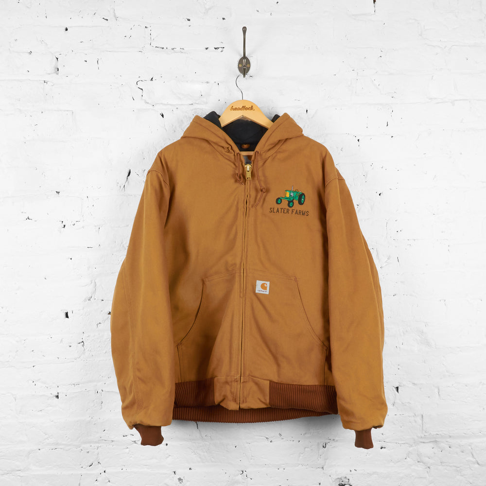 Vintage Hooded Carhartt Farm Jacket - Brown - L