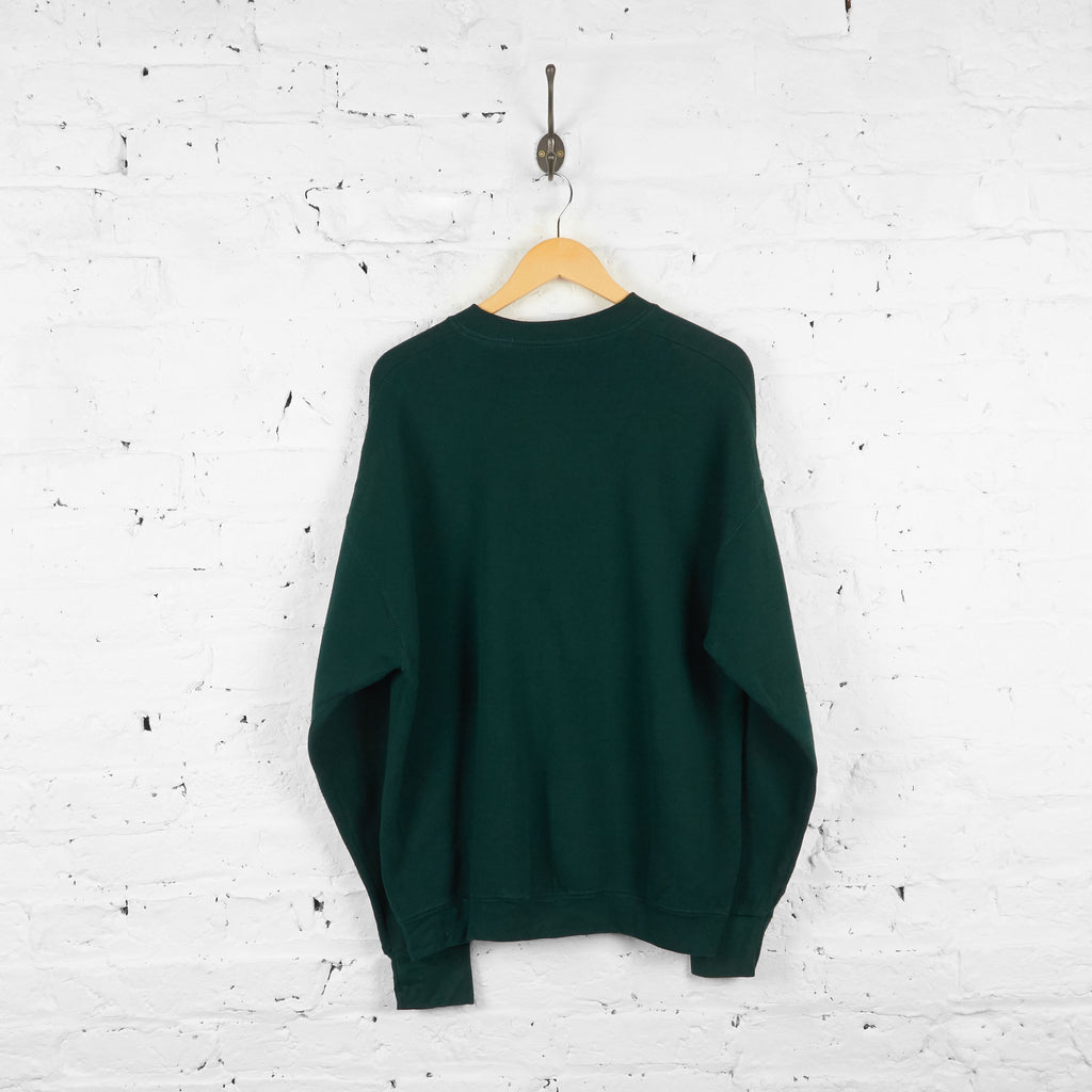 Vintage Mickey Mouse Sweatshirt - Green - XL