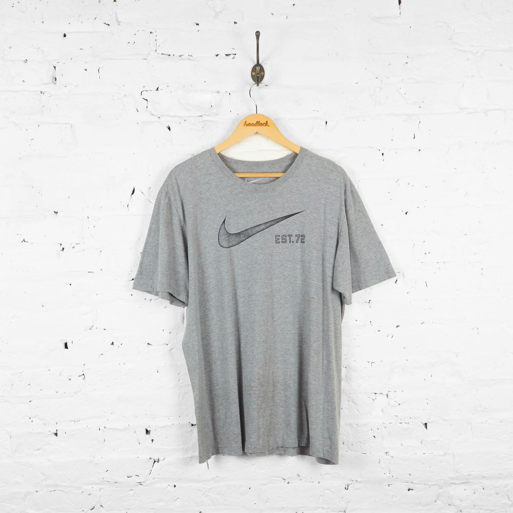 Vintage Nike Tick T-shirt - Grey - XL