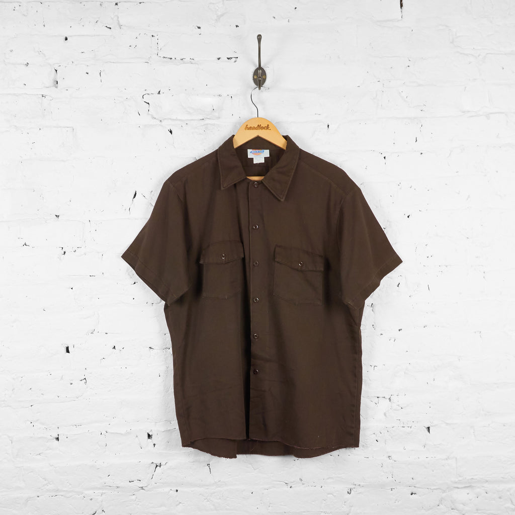 Vintage Dickies Utility Shirt - Brown - XL