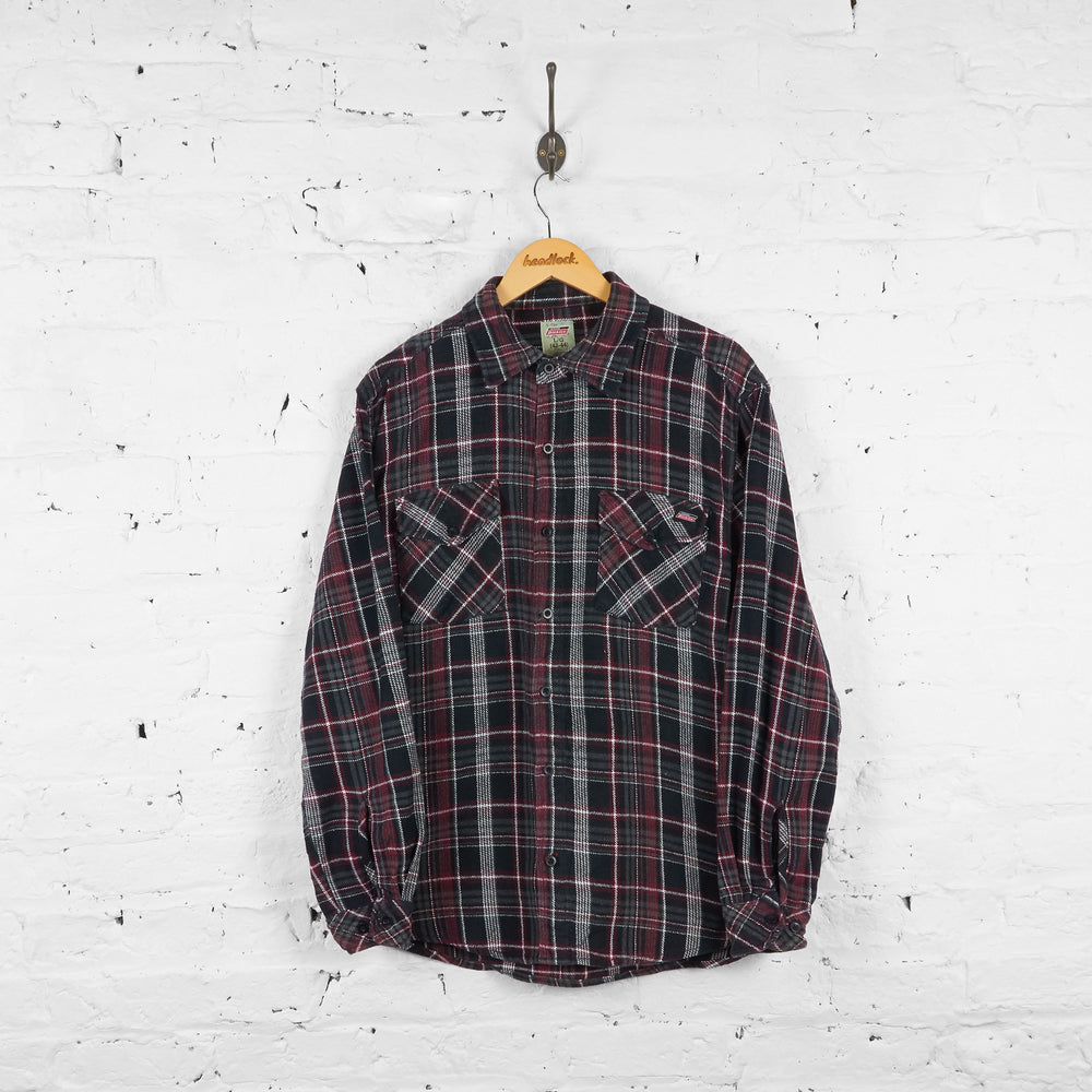 Vintage Dickies Flannel Shirt - Black/Red - L