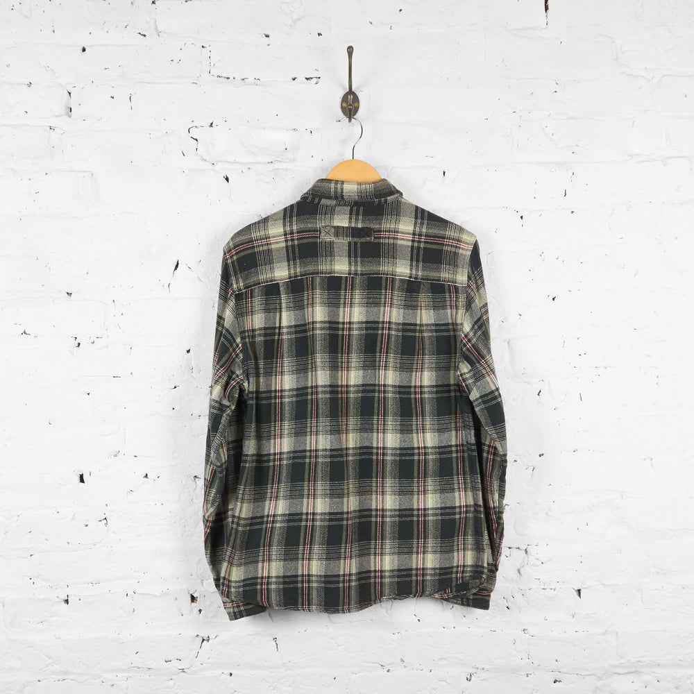 Vintage Woolrich Flannel Shirt - Grey/Red - S