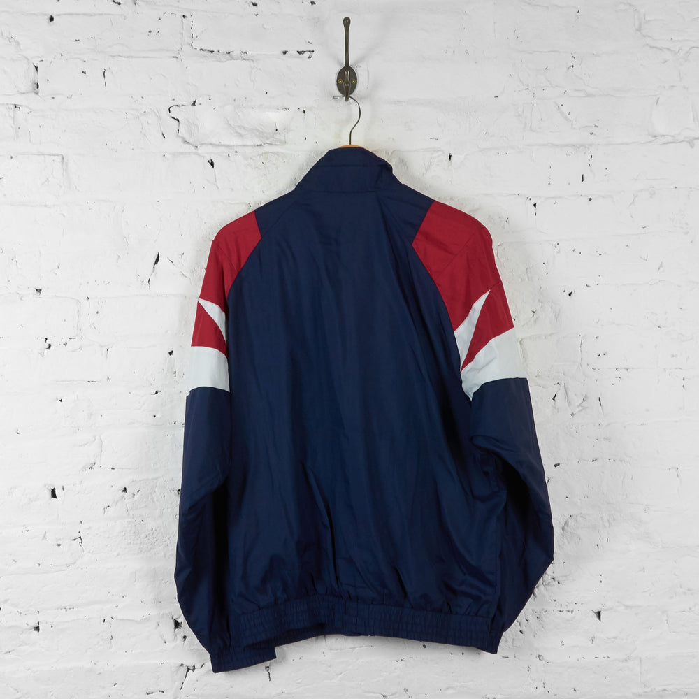 Adidas 90s Shell Tracksuit Top Jacket - Blue - L - Headlock