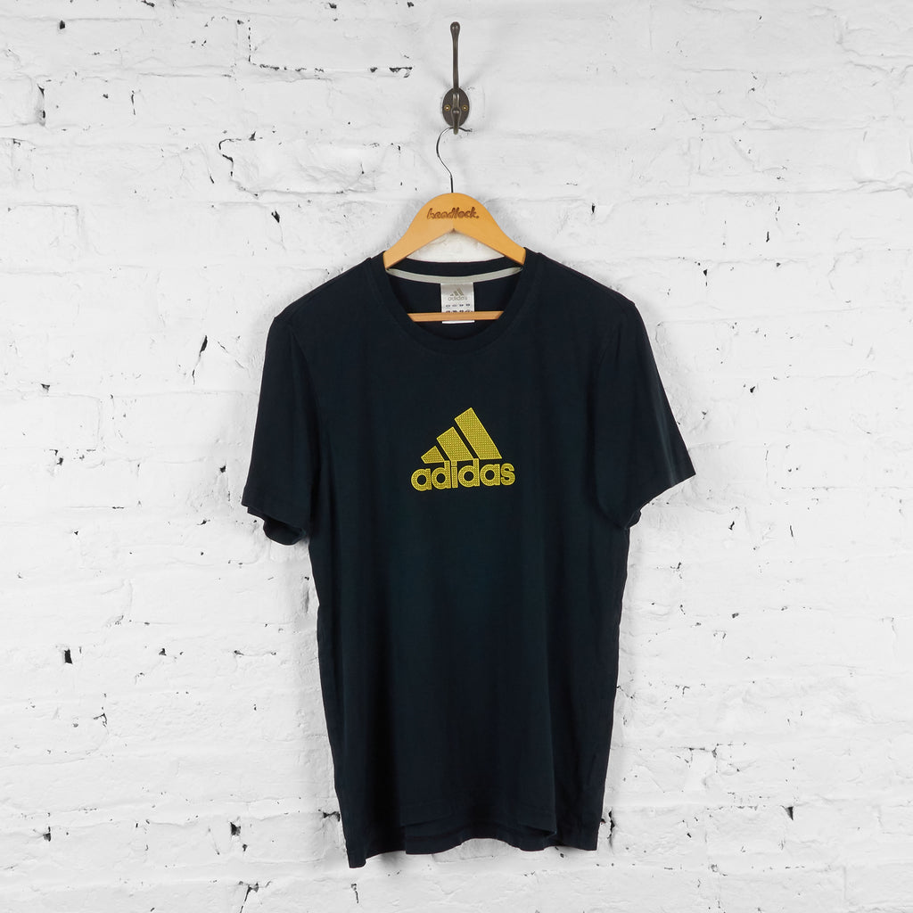Adidas 90s T Shirt - Black - L - Headlock