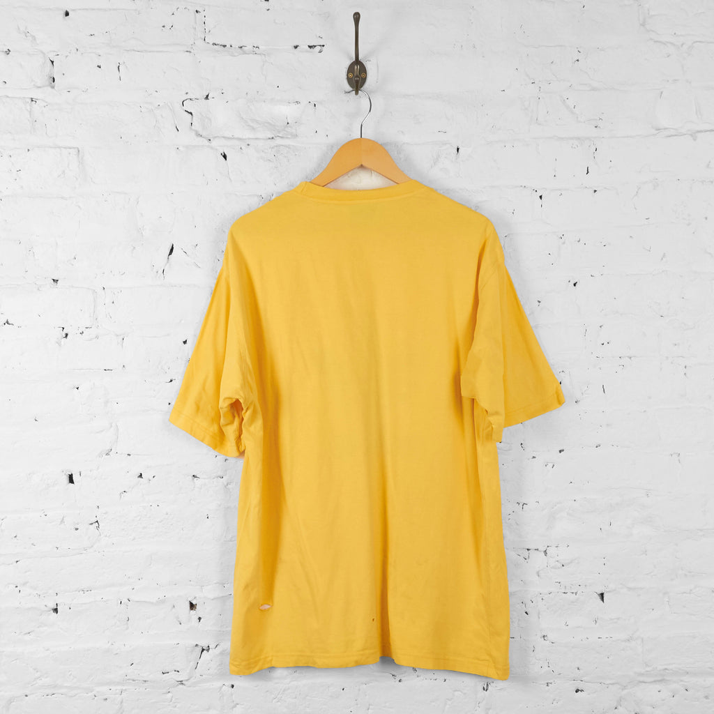 Adidas 90s T Shirt - Yellow - XL - Headlock