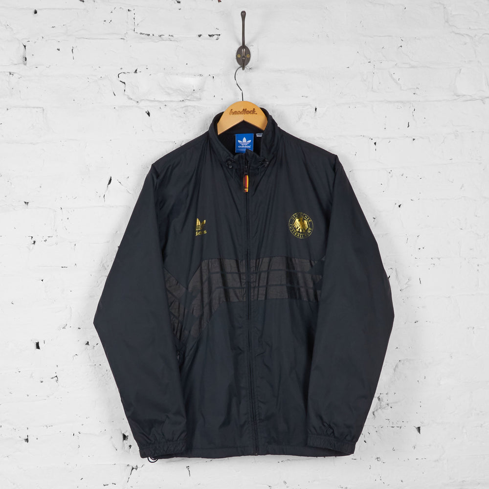 Adidas Germany Football Shell Tracksuit Top Jacket - Black - L - Headlock