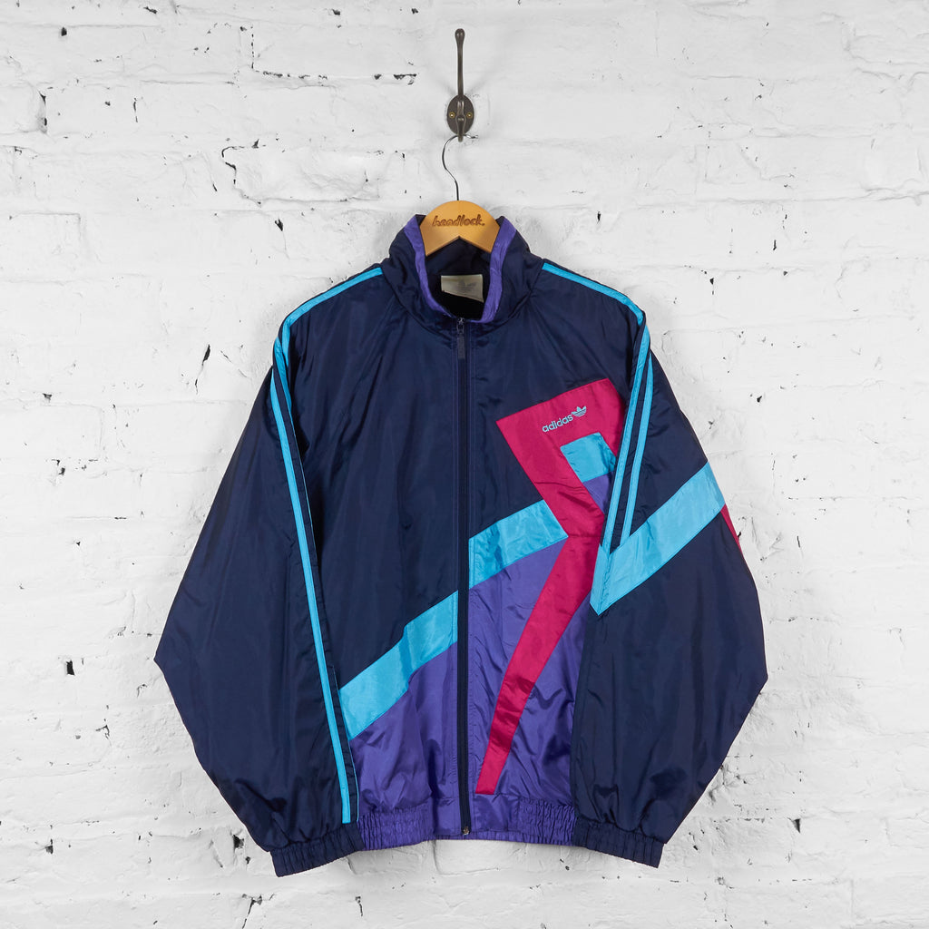 Adidas Shell Tracksuit Top Jacket - Blue - L - Headlock