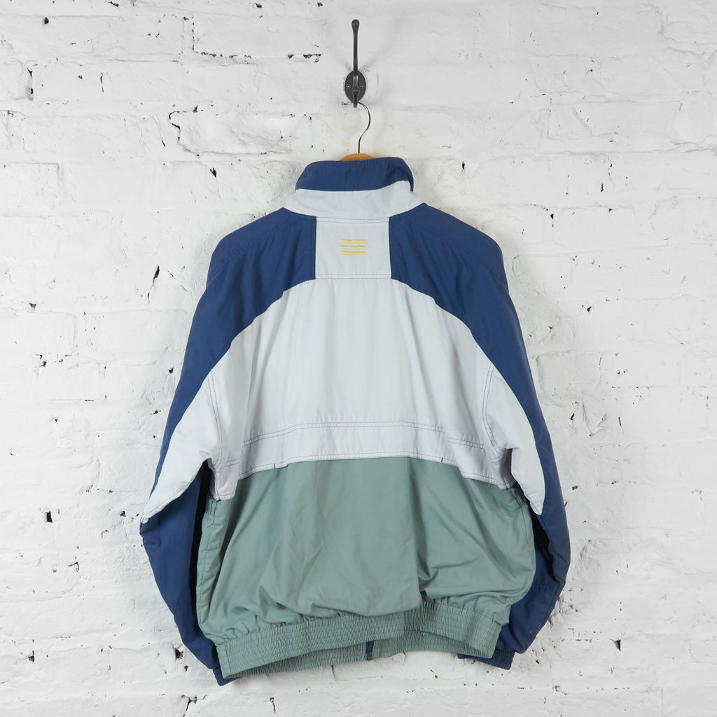 Adidas Shell Tracksuit Top Jacket - Blue/White - L - Headlock