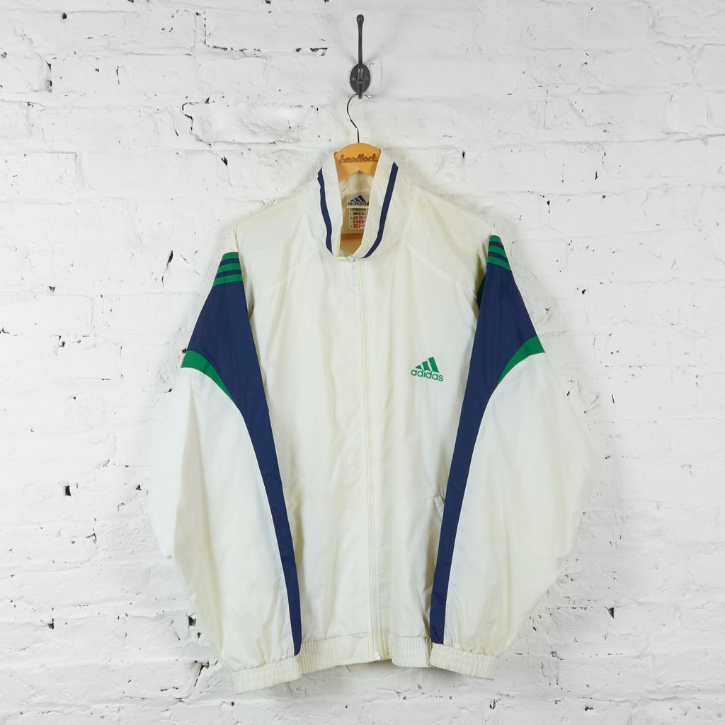 Adidas Shell Tracksuit Top Jacket - White - XL - Headlock