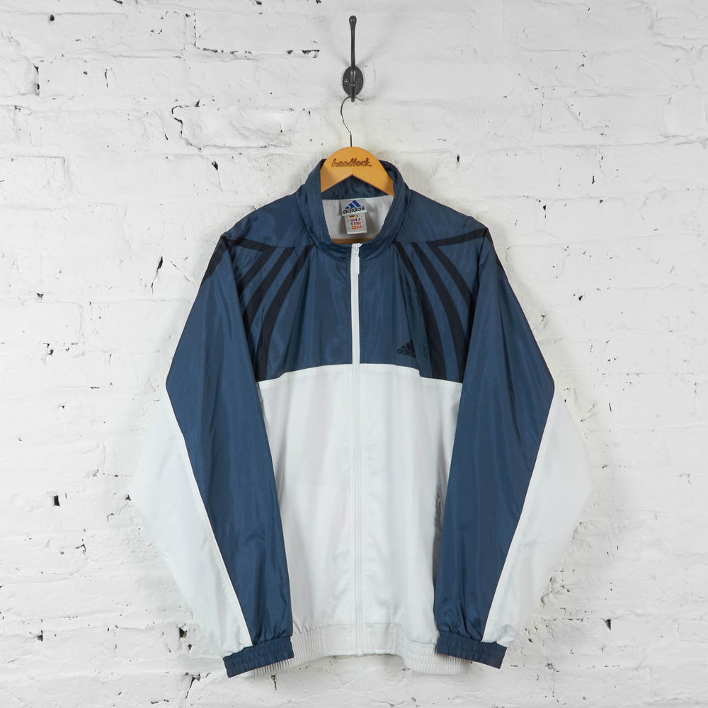 Adidas Tracksuit Top - Blue/White - XL - Headlock