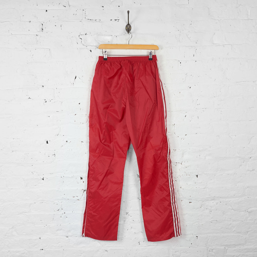 Adidas Waterproof Tracksuit Bottoms - Red - S - Headlock