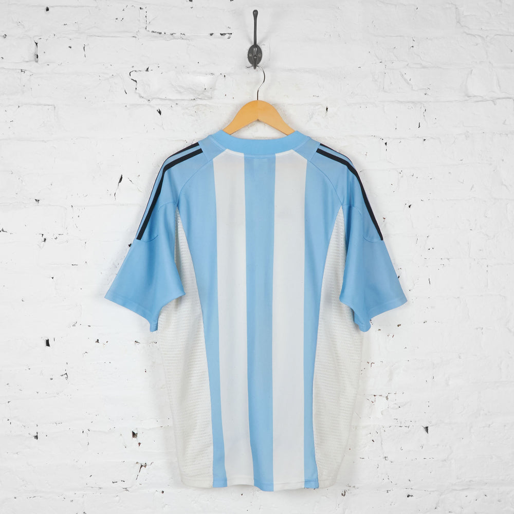 Argentina 2002 Home Football Shirt - Blue - XL - Headlock