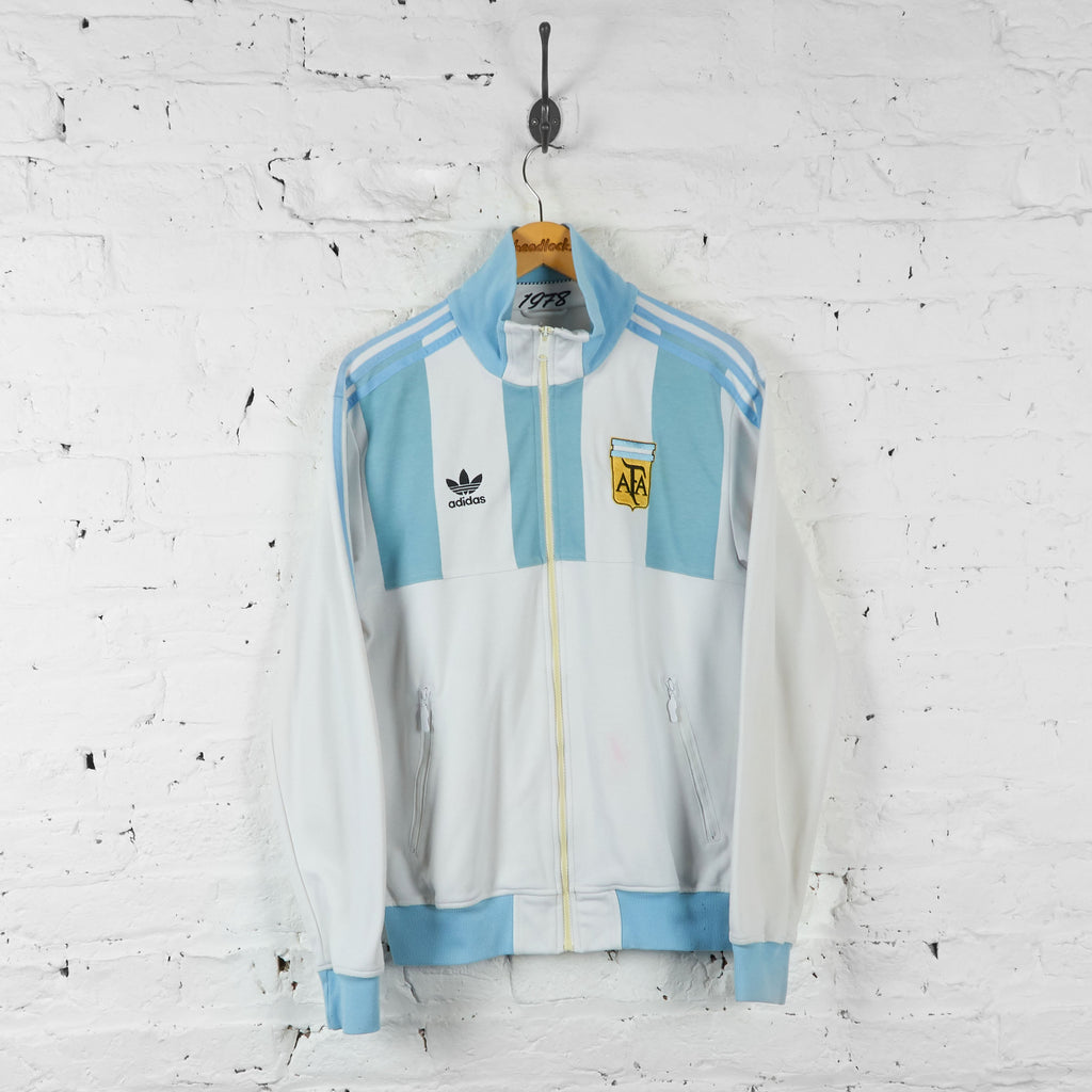 Argentina Football Adidas Tracksuit Top Jacket - White - M - Headlock