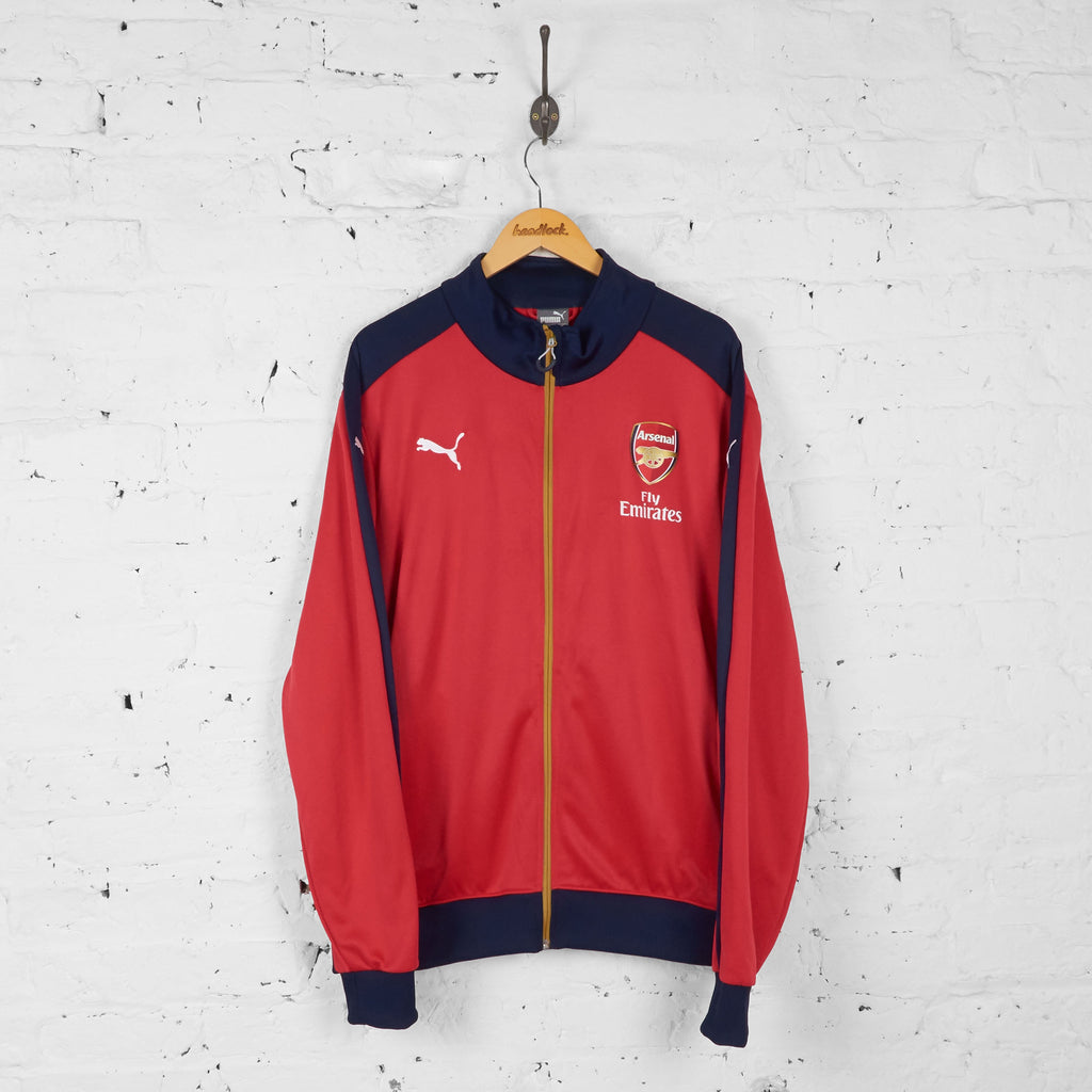 Arsenal Puma Tracksuit Top Jacket - Red - XXL - Headlock