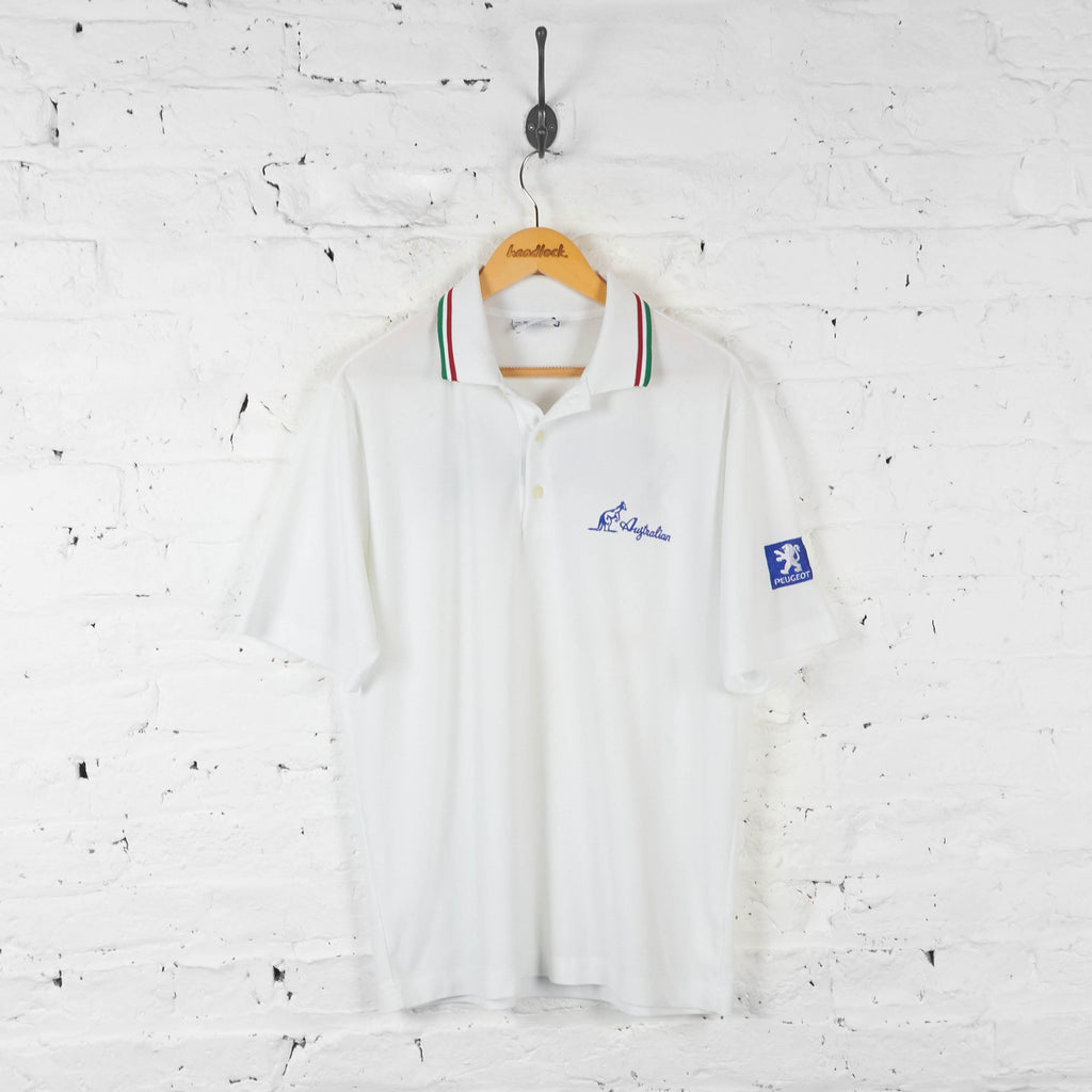 Australian Italia Polo Shirt - White - XL - Headlock