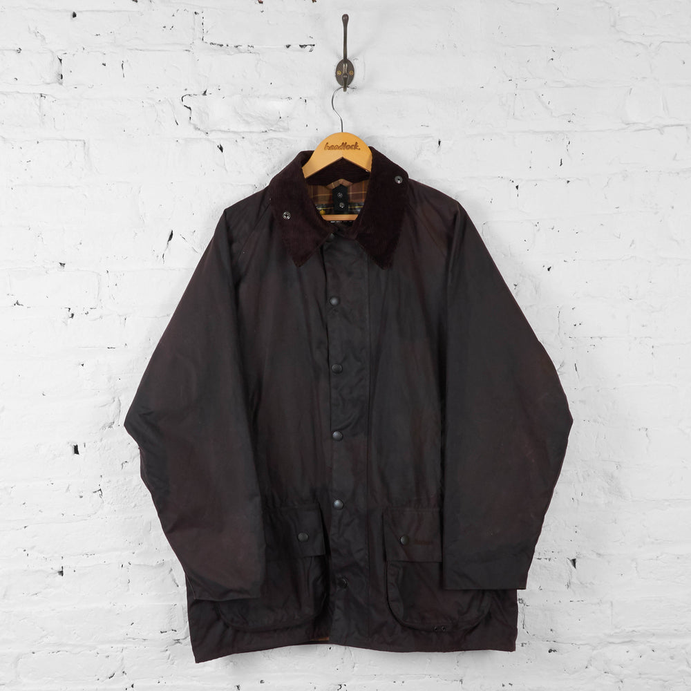 Barbour Beaufort Wax Jacket Coat - Brown - XL - Headlock