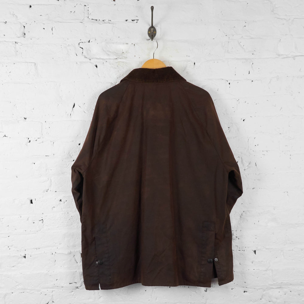Barbour Bedale Wax Jacket Coat - Brown - XL - Headlock
