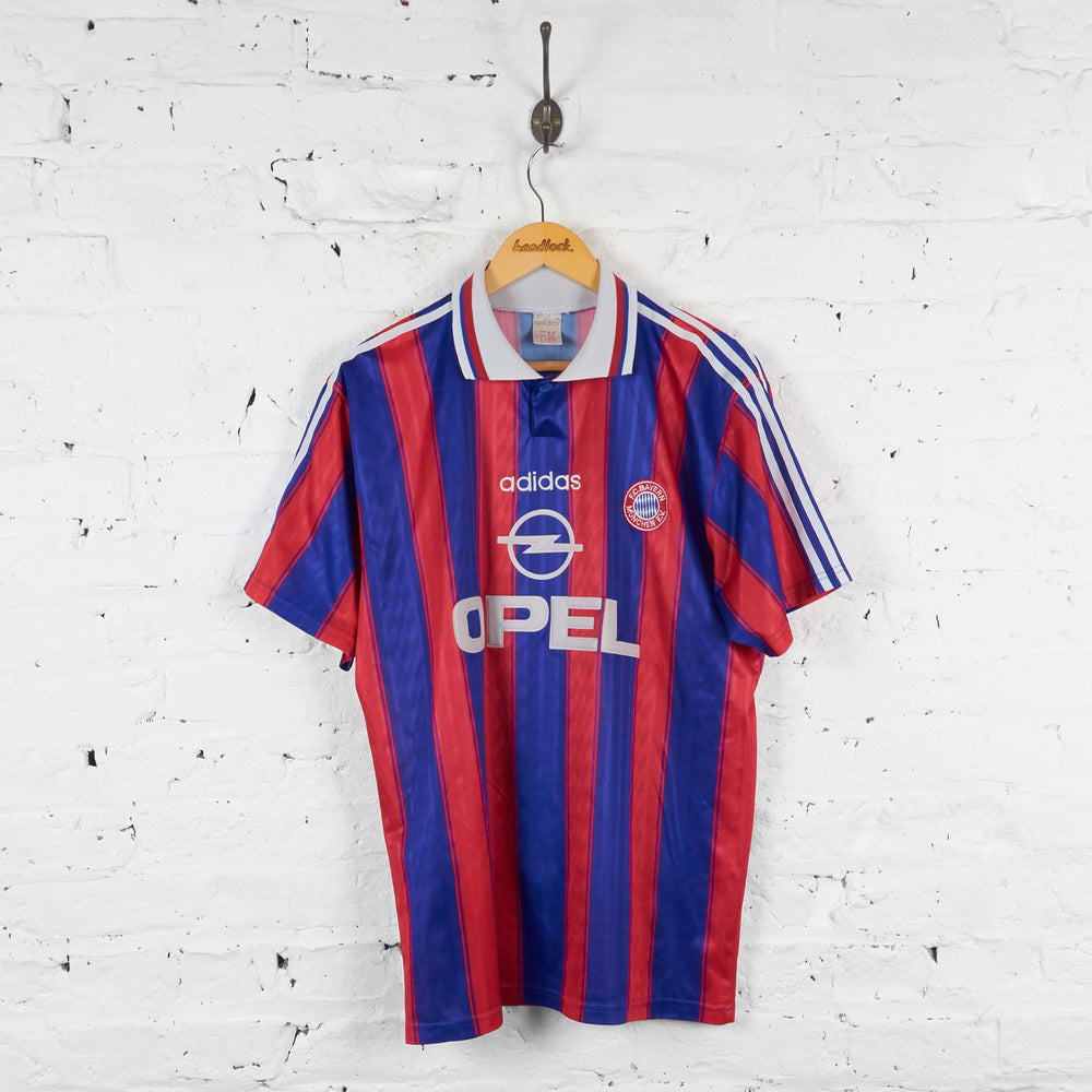 Bayern Munich Adidas Kuffour 1995 Home Football Shirt - Blue/Red - L - Headlock