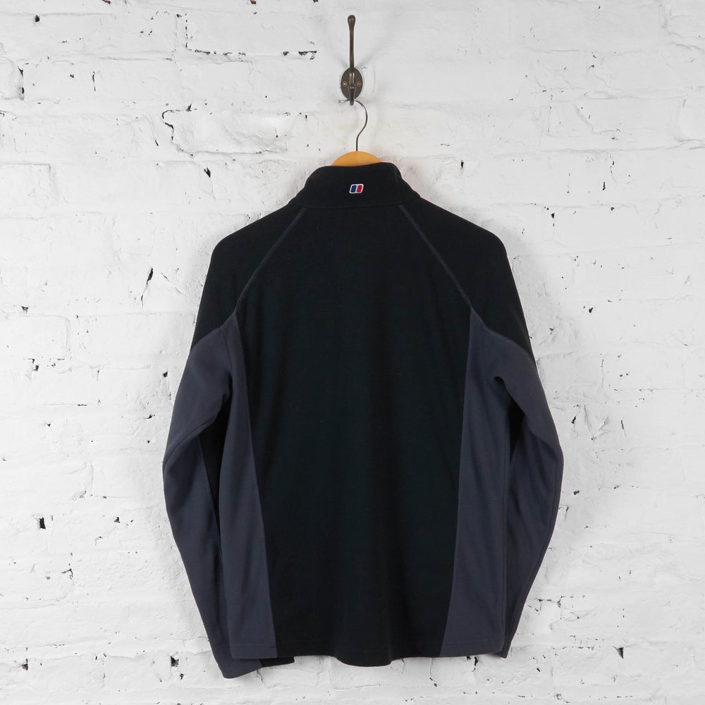 Berghaus 1/4 Zip Fleece - Black - M - Headlock
