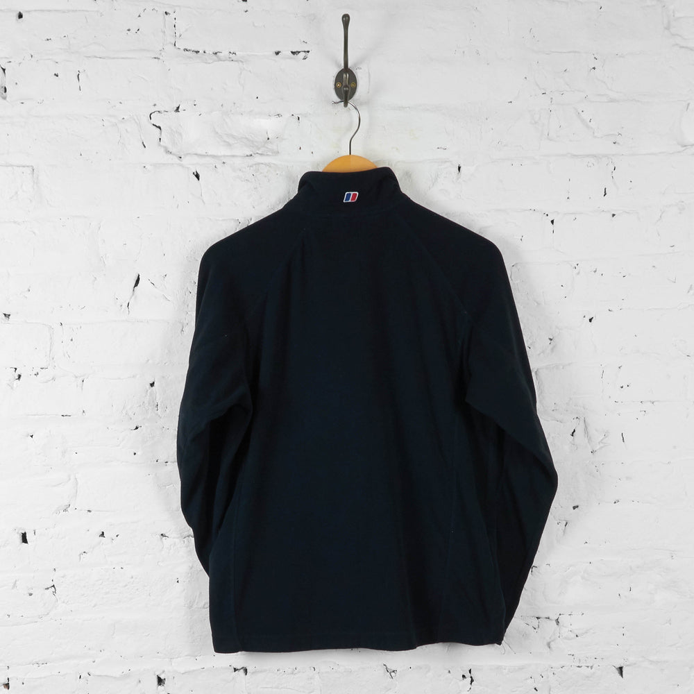 Berghaus 1/4 Zip Fleece - Black - S - Headlock