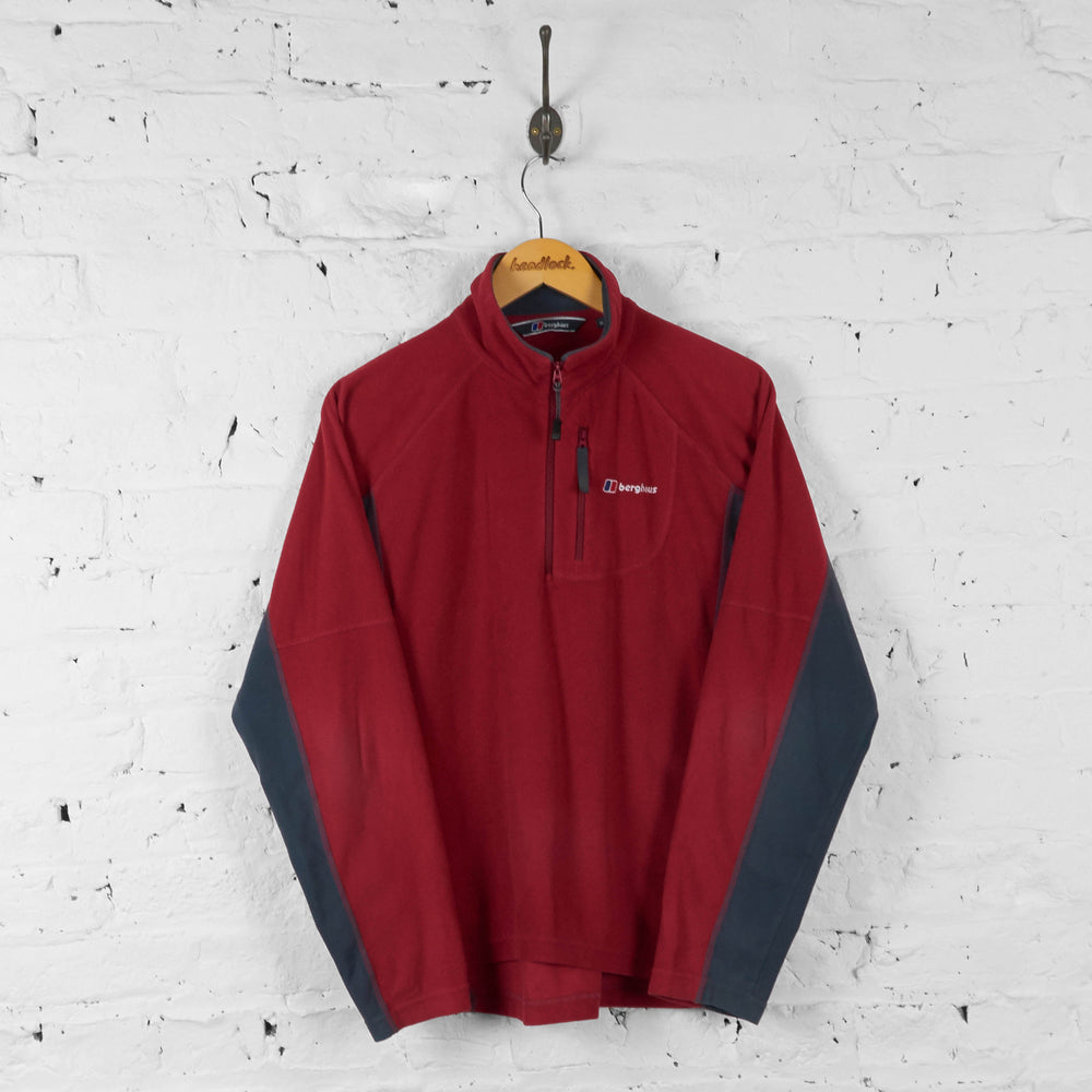 Berghaus 1/4 Zip Fleece - Red - M - Headlock