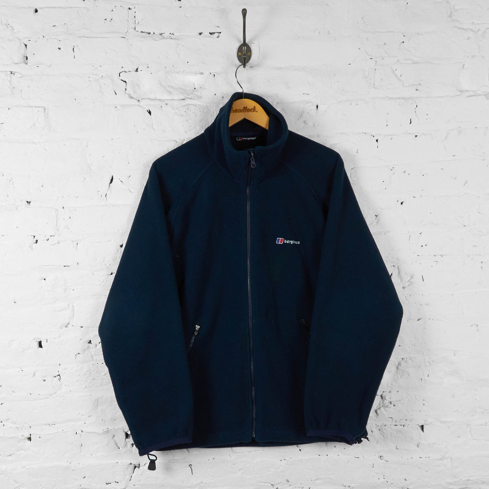 Berghaus Full Zip Fleece - Blue - M - Headlock
