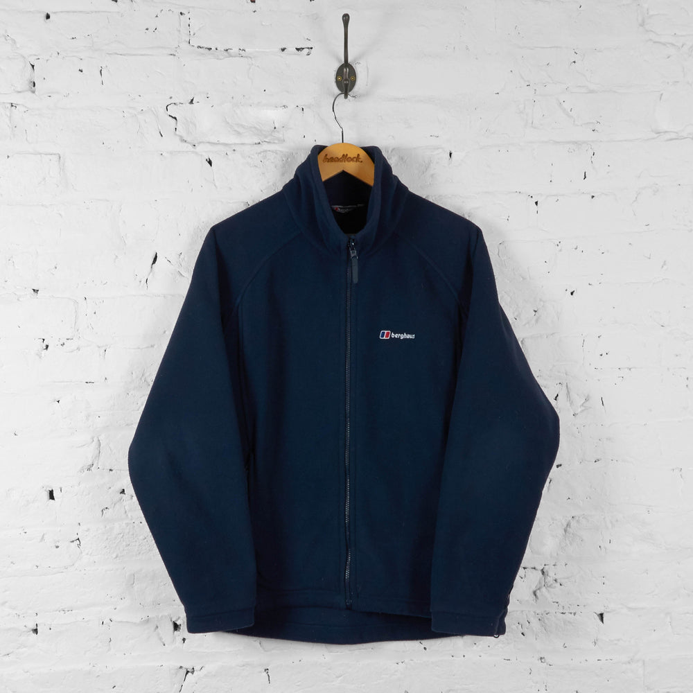 Berghaus Full Zip Fleece - Blue - S - Headlock