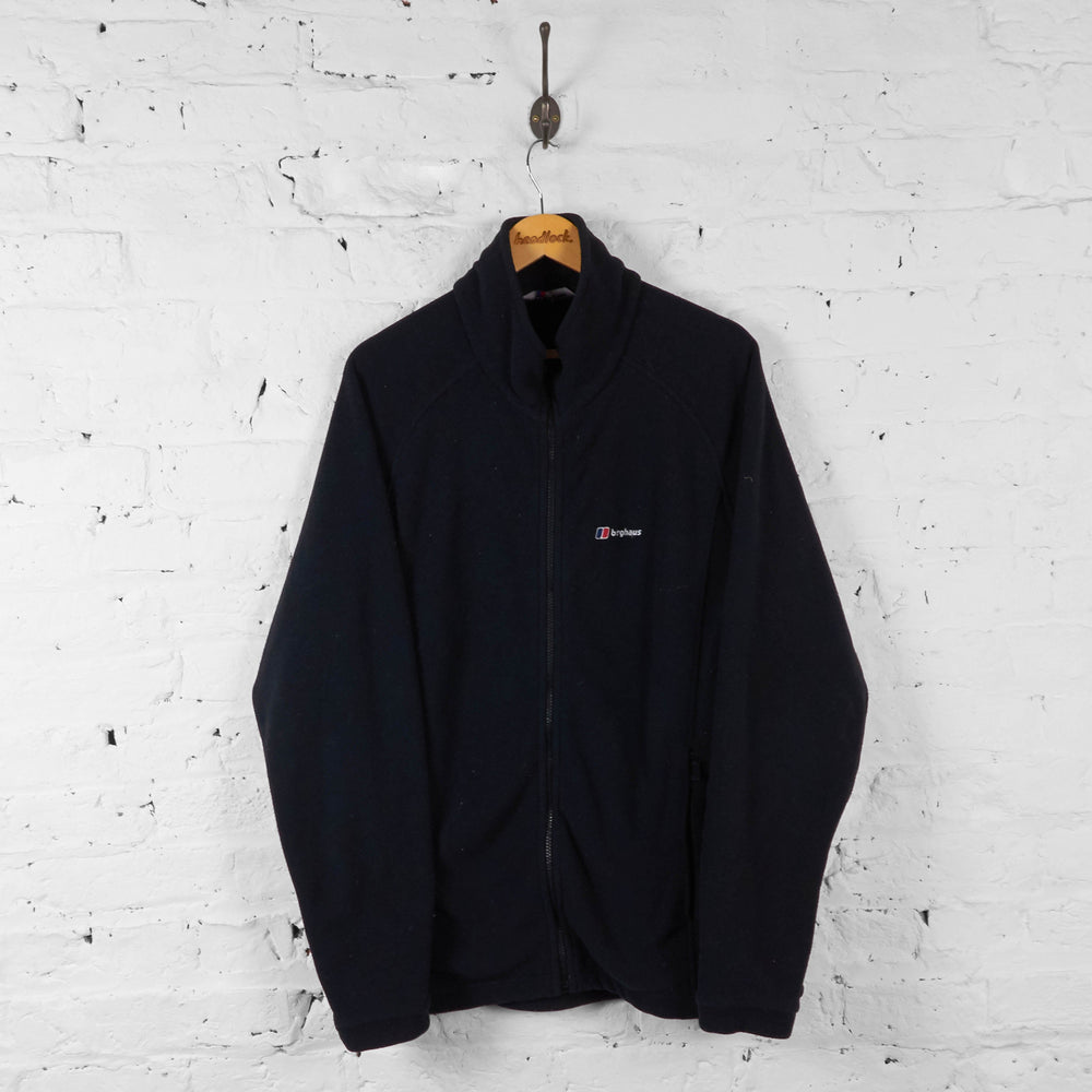 Berghaus Full Zip Fleece Jacket - Black - XL - Headlock