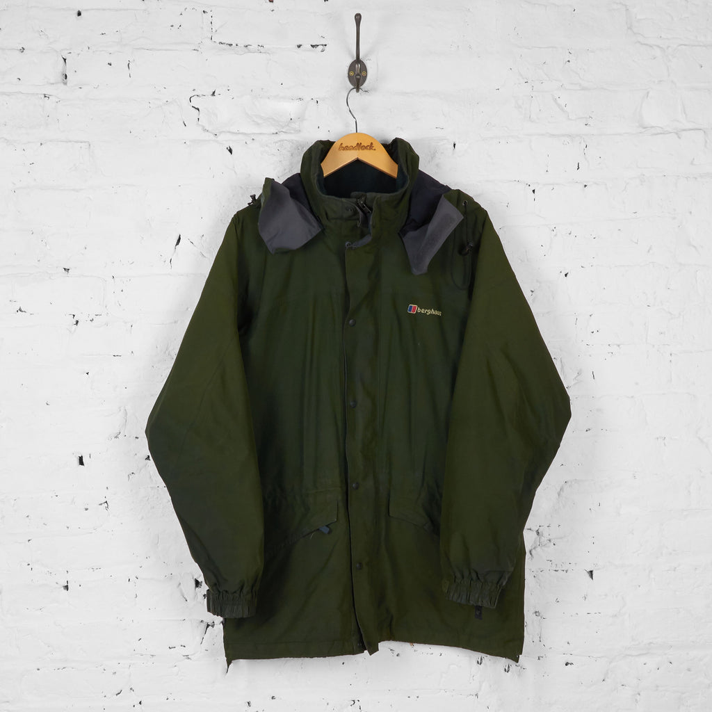 Berghaus Gore Tex Rain Jacket - Green - M - Headlock