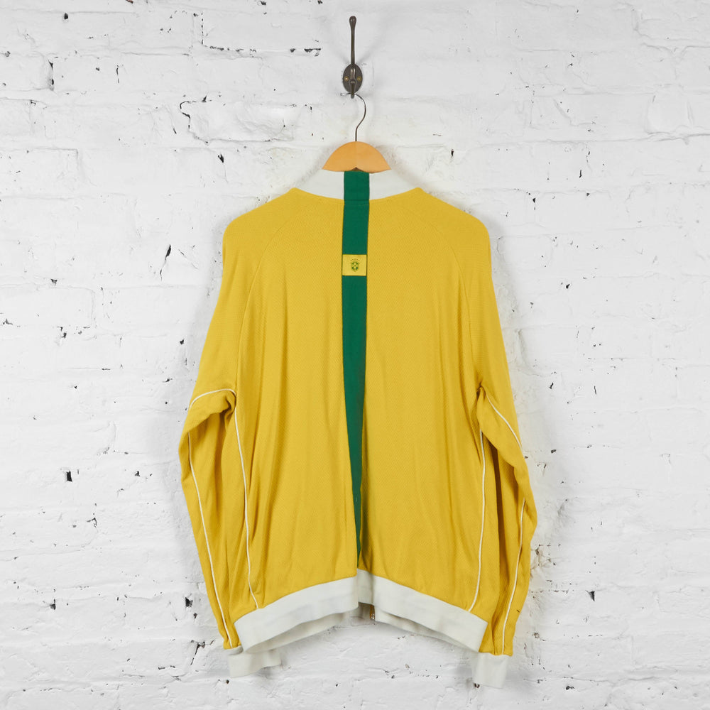 Brazil Football Nike Tracksuit Top Jacket - Yellow - XL - Headlock