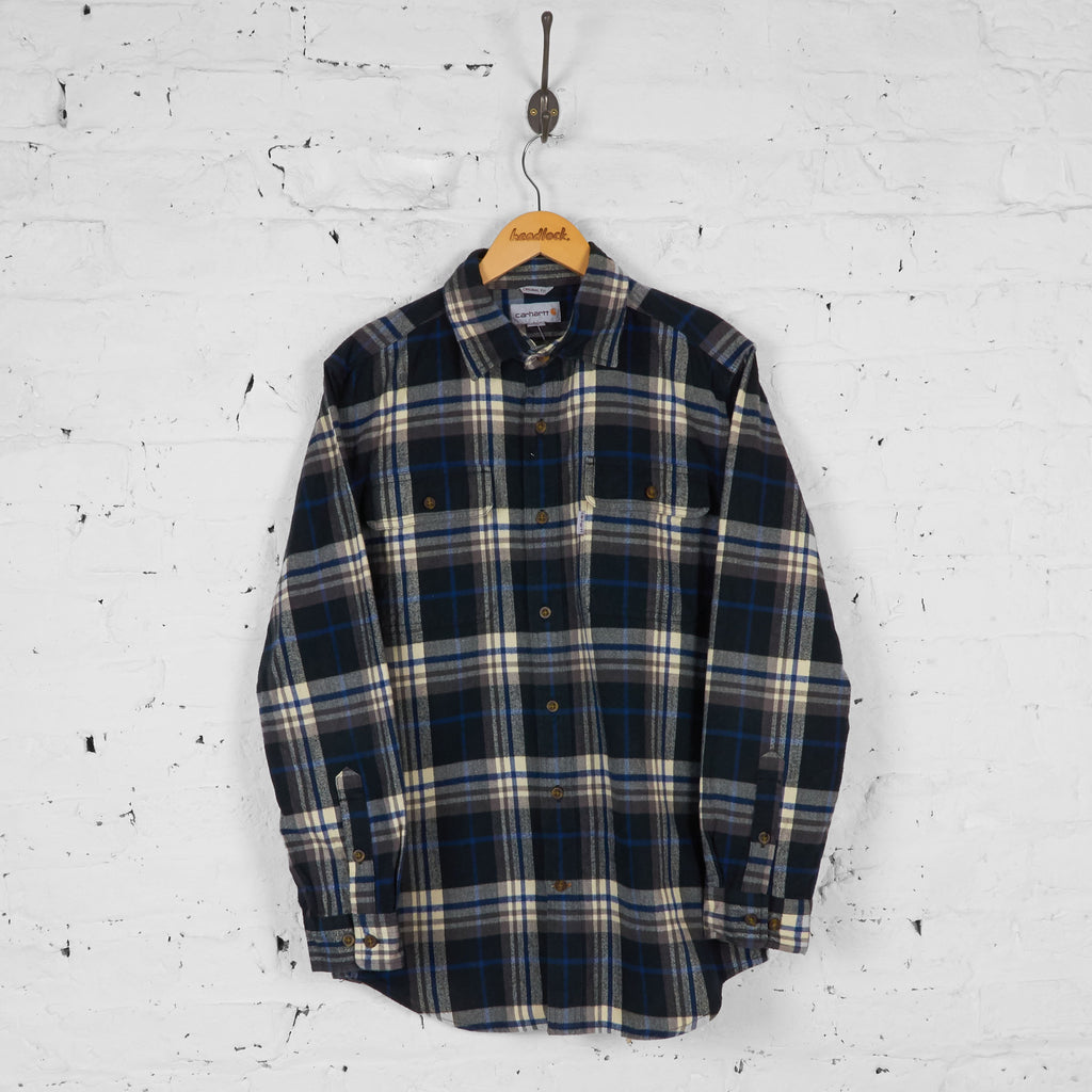 Carhartt Original Fit Plaid Check Shirt - Blue - M - Headlock
