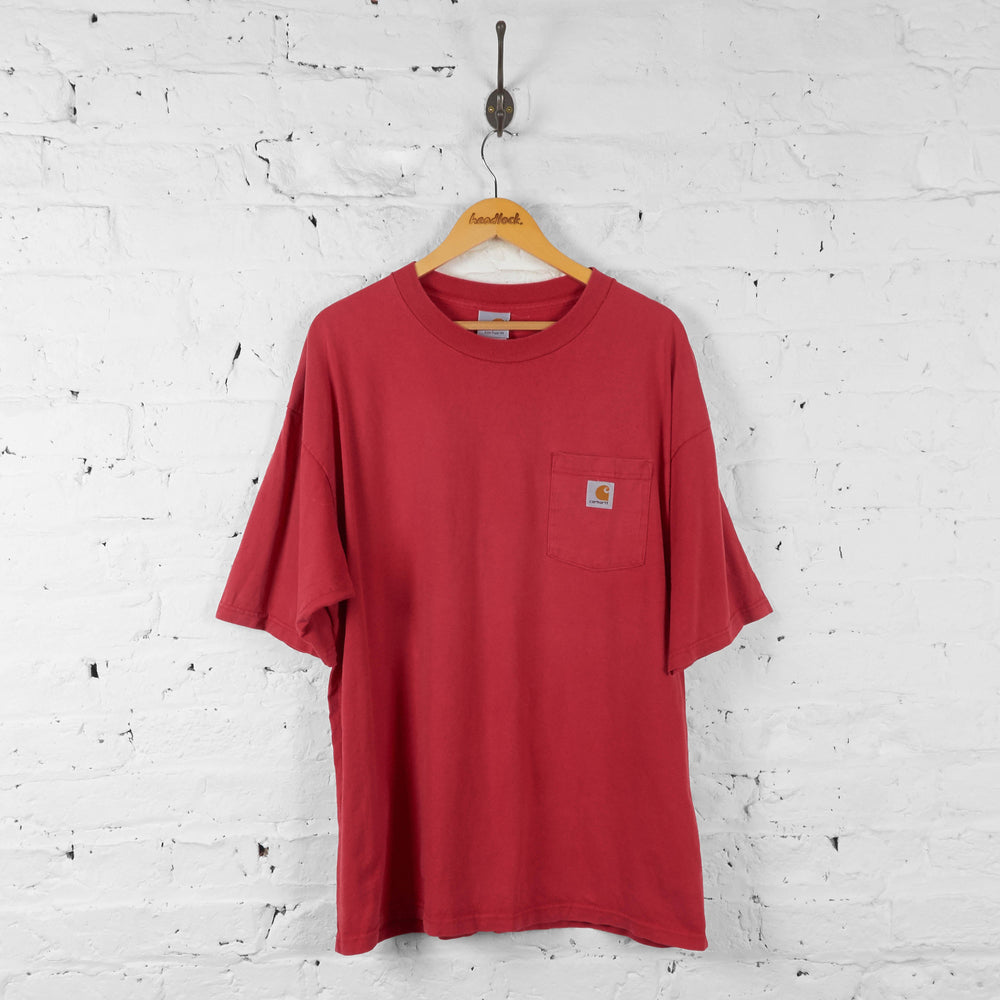 Carhartt Pocket T Shirt - Red - XL - Headlock