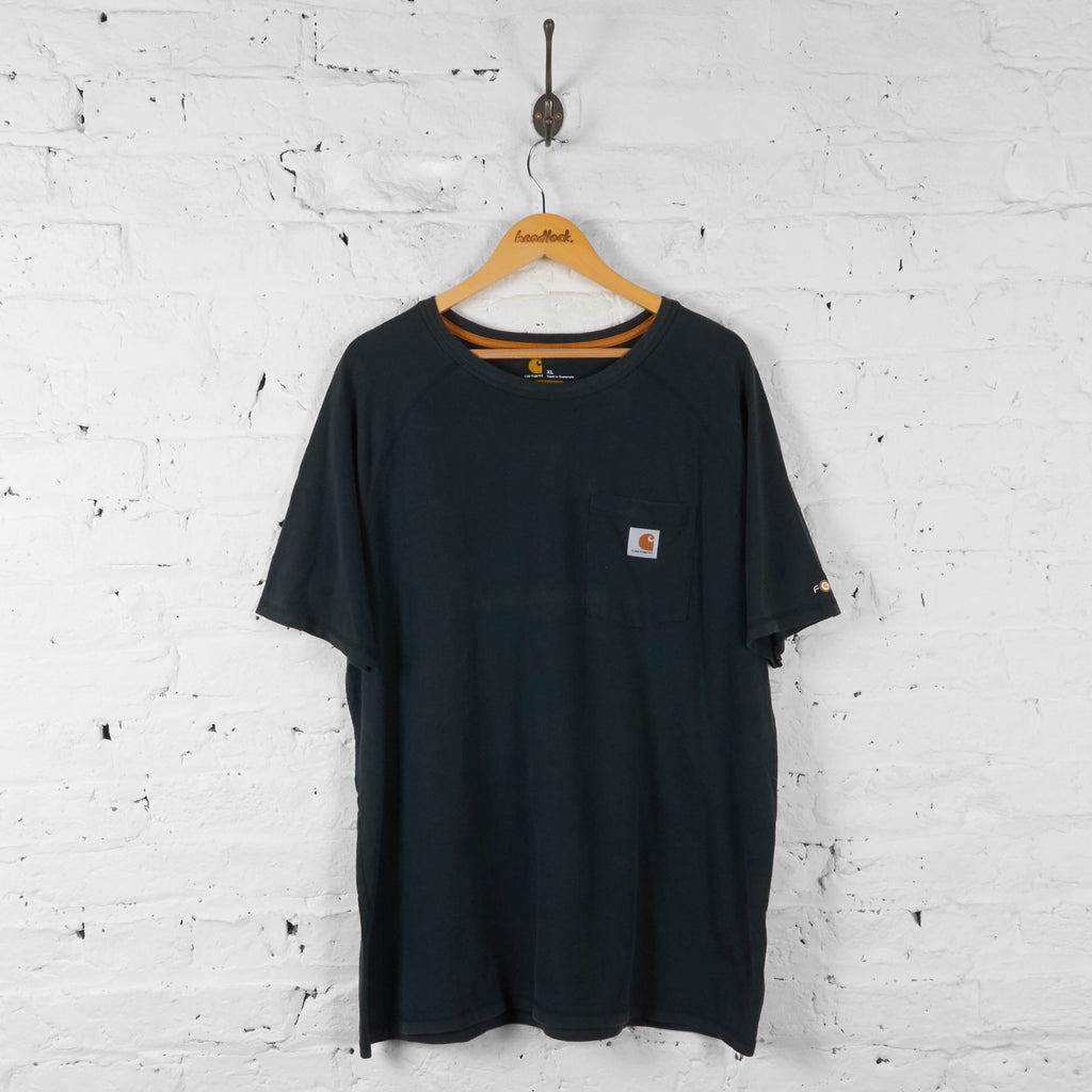Carhartt Relaxed Fit Pocket T Shirt - Black - XL - Headlock
