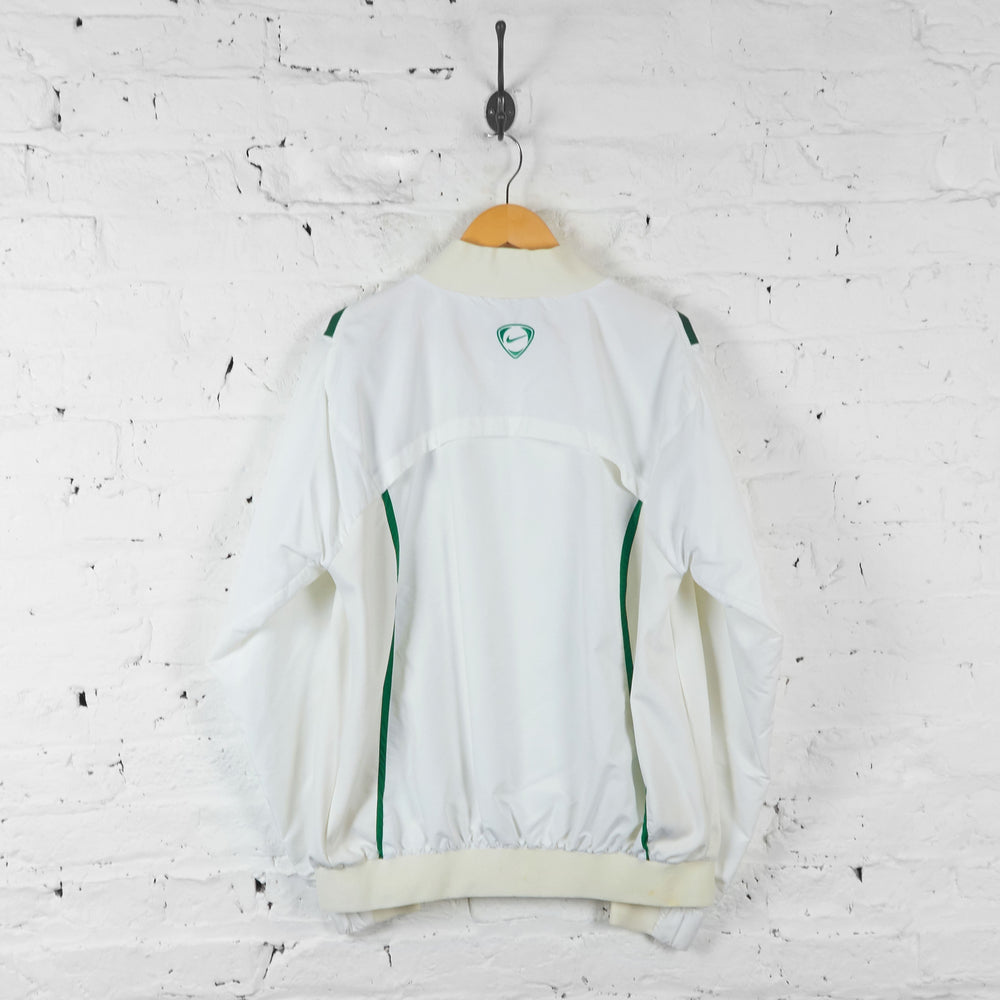 Celtic Football Nike Tracksuit Top Jacket - White - L - Headlock