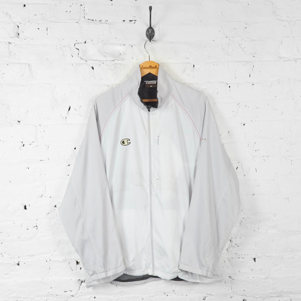 Champion Shell Tracksuit Top Jacket - White - XL - Headlock