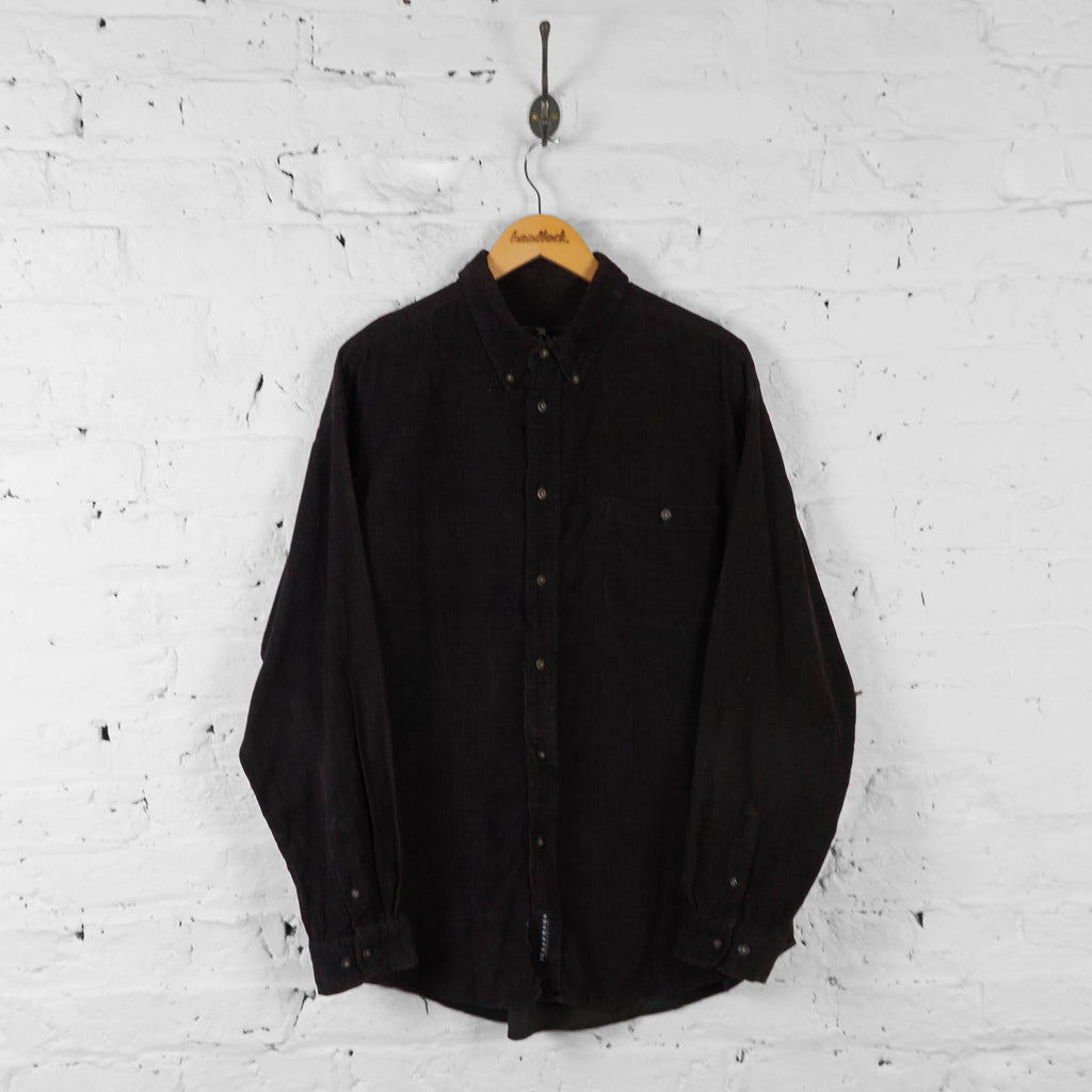 Check Corduroy Shirt - Green - XL - Headlock