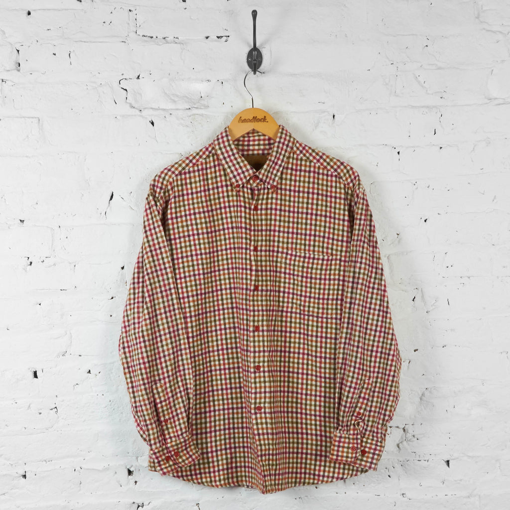 Check Flannel Shirt - Red - L - Headlock