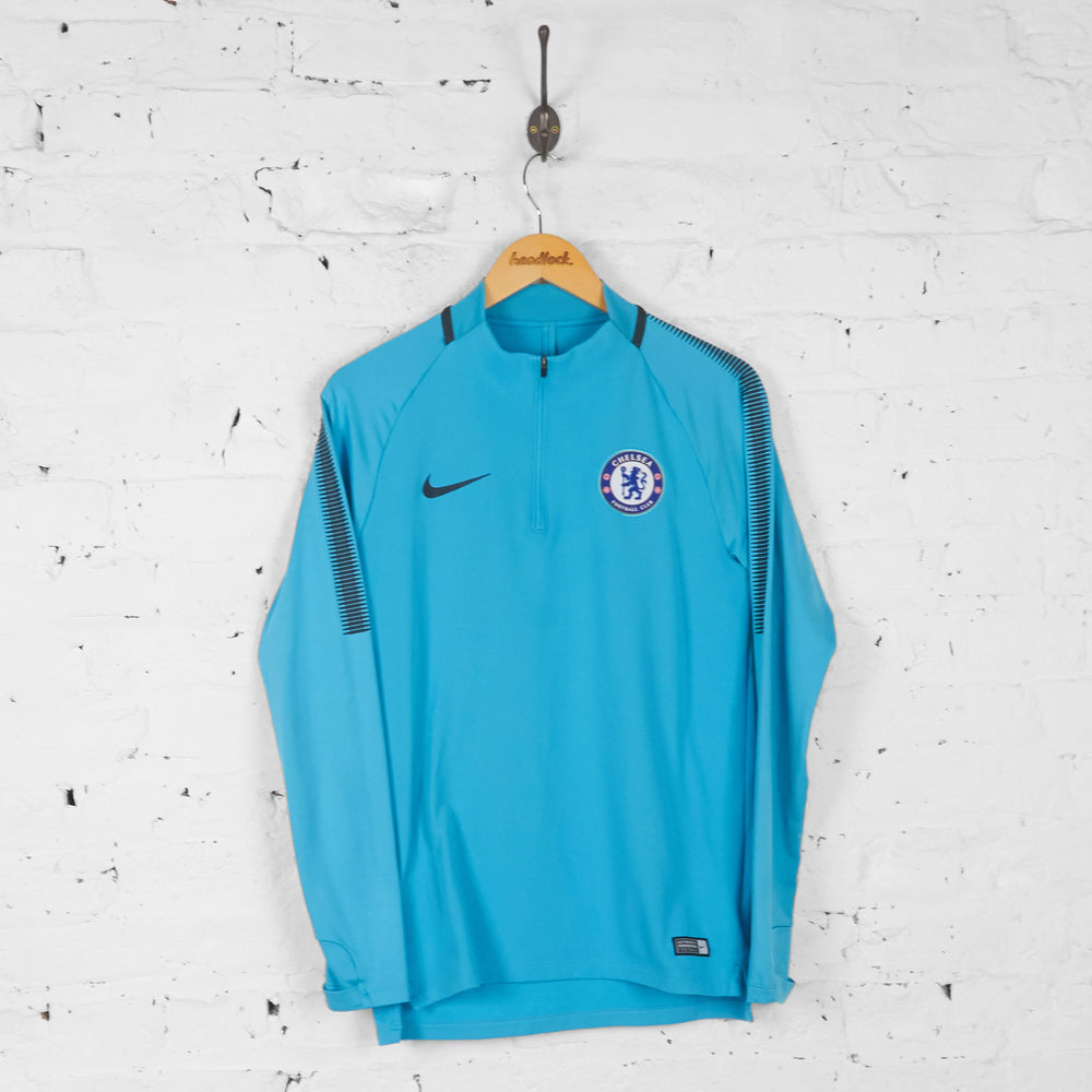 Chelsea 1/4 Zip Football Training Top - Blue - S - Headlock
